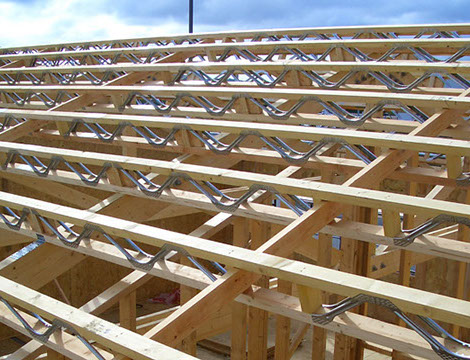 Metal web joists for Open web trusses