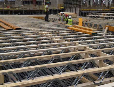 Metal web joists for Open web floor trusses